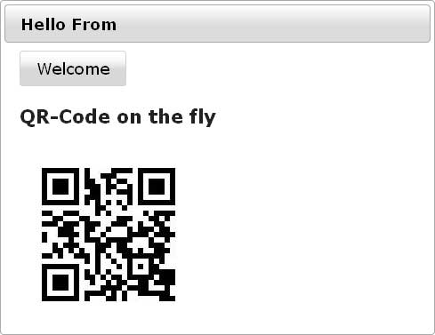 QR-Codes with GlassFish and PrimeFaces