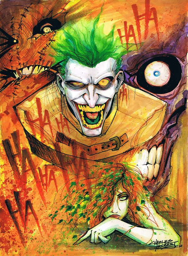 The Joker going nuts.