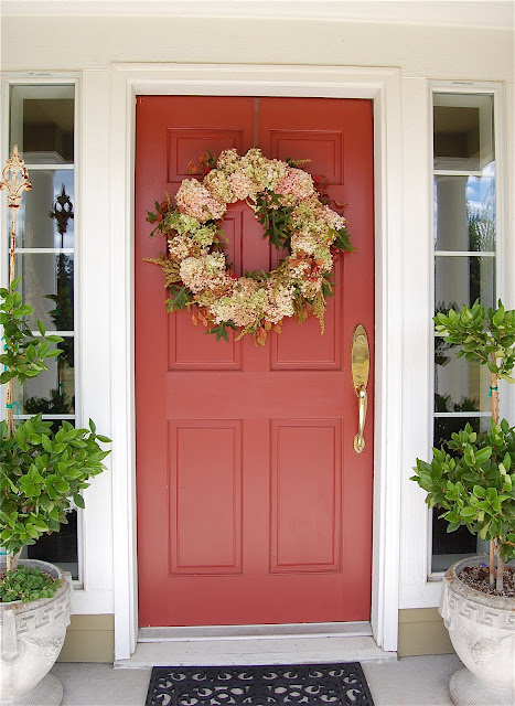 Saltbox Treasures Welcome Hydrangea Fall Wreath