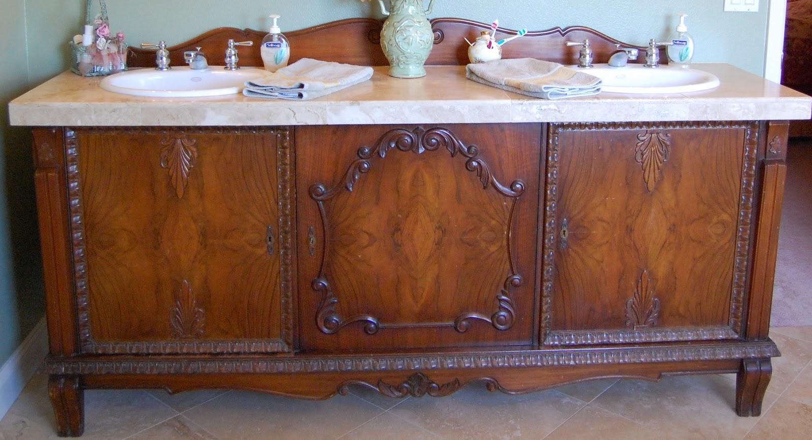 saltbox treasures Sideboard to Sink Vanity Makeover