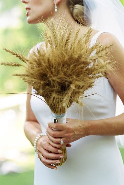 Sweet Lorraine: DIY Wheat Bouquet
