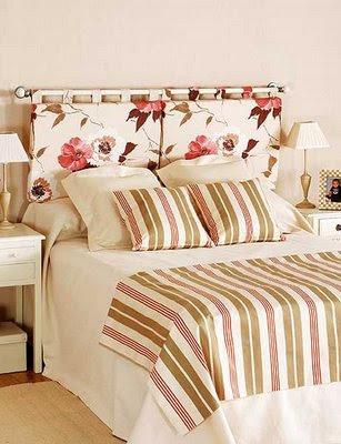 Cabeceiras de cama decora o e inven o - Telas para forrar cabecero cama ...