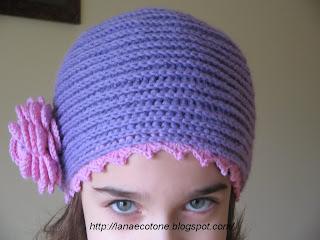 Lana e Cotone (maglia e uncinetto)  Cappello all uncinetto d806c7935bae