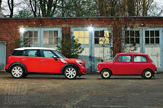 1959 Mini vs 2001 Mini