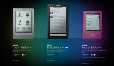 eReader From Sony,Pocket Edition,Touch Edition,Daily Edition