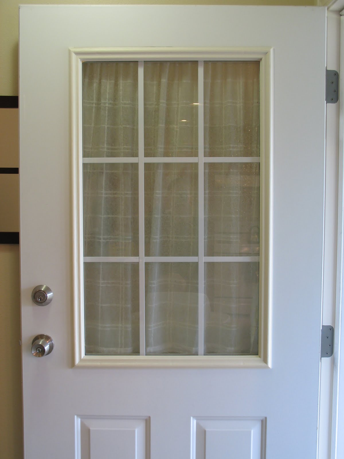 Remodelaholic | Spray Painted Window Trim On Exterior Door