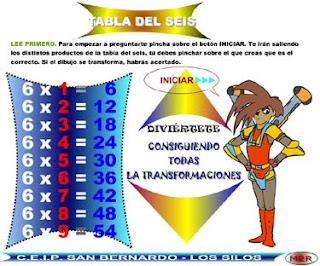 Resultado de imagen de transformaciones tabla de multiplicar