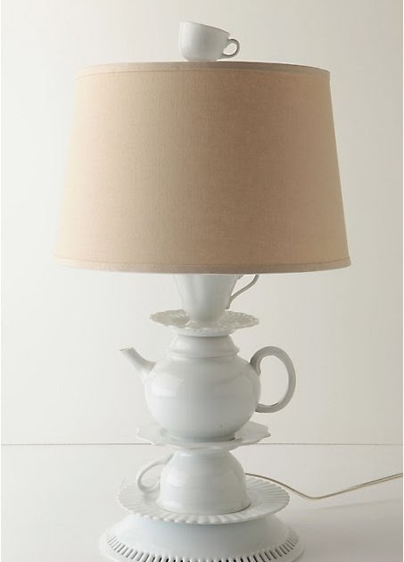 The Aspiring Housewife Dining Room Reno Part 3 How To Make A Teapot Lamp