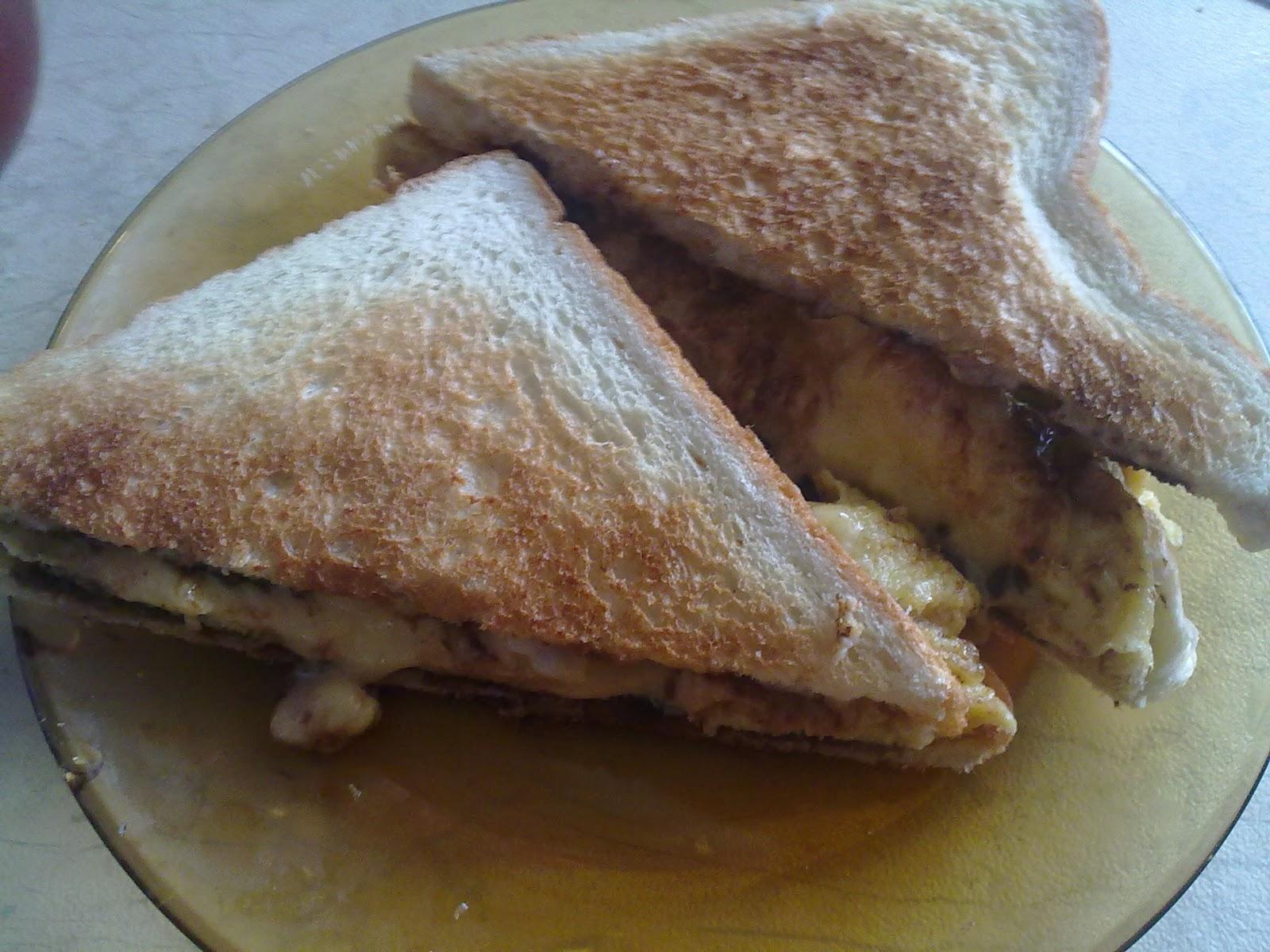 MY ALL: roti bakar telur cheese...