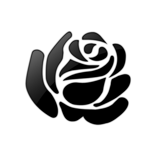 free clip art roses black and white - photo #28