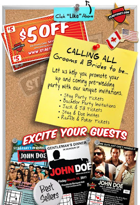 Stag party ticket designs templates and samples for Stag tickets template