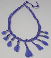 Handmade sea glass necklace with cobalt blue sea glass by Out Of The Blue Seaglass Jewelry