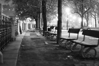 Prague - Midnight benches
