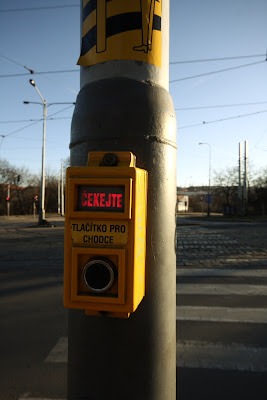 Prague - button for walkers