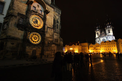 Prague Orloj and Old Town square
