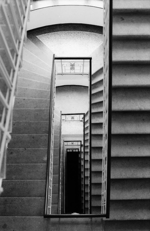 Staircase in my school, Prague