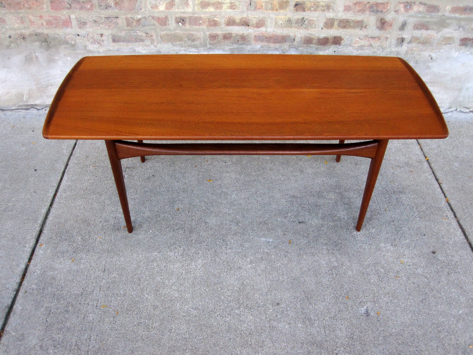 circa midcentury: 'finn juhl' teak coffee table