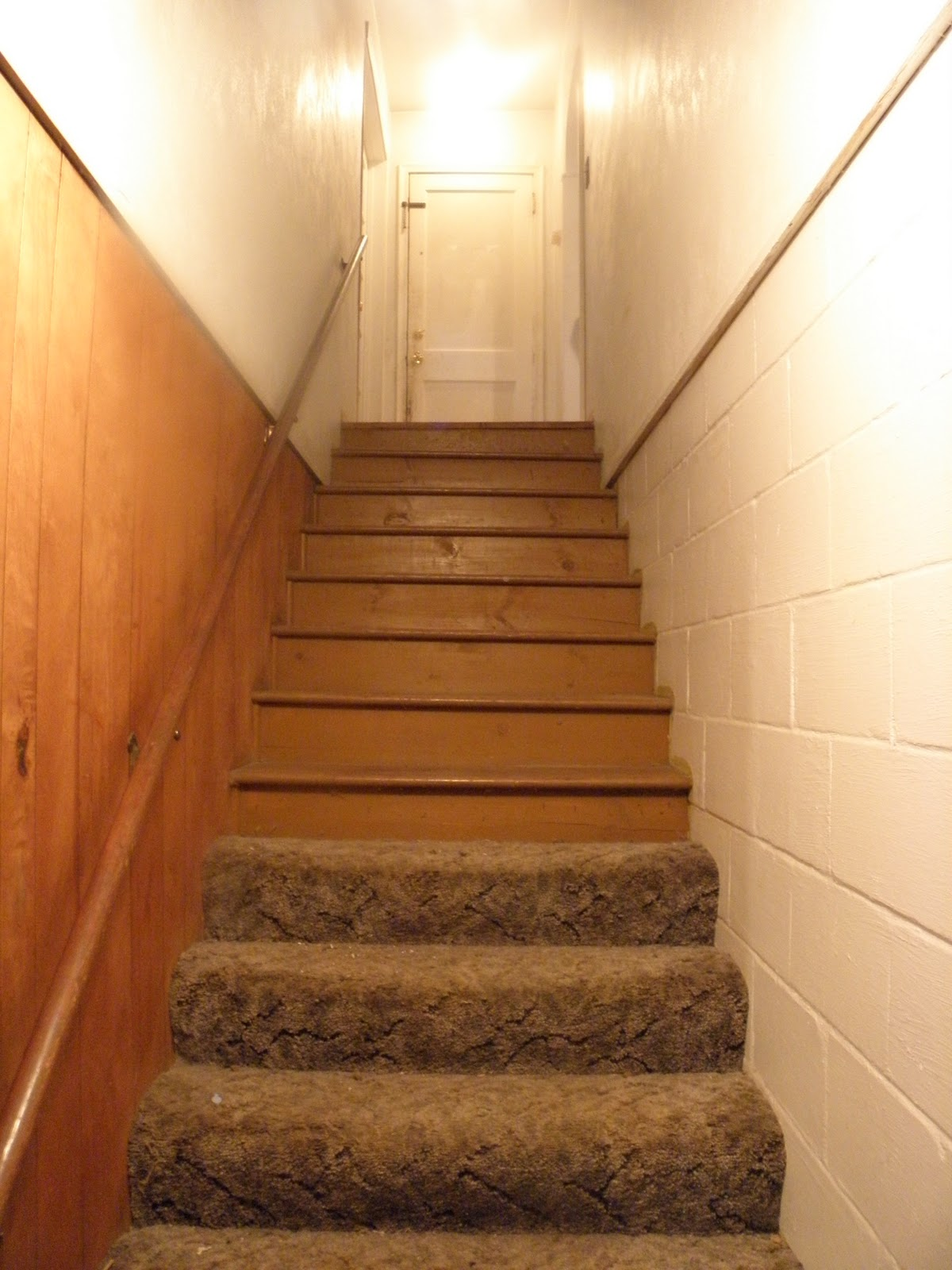 painting basement stairs. Black Bedroom Furniture Sets. Home Design Ideas
