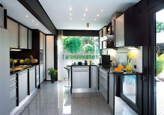 contoh kitchen set yang teratur