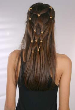 cabelos semi-presos