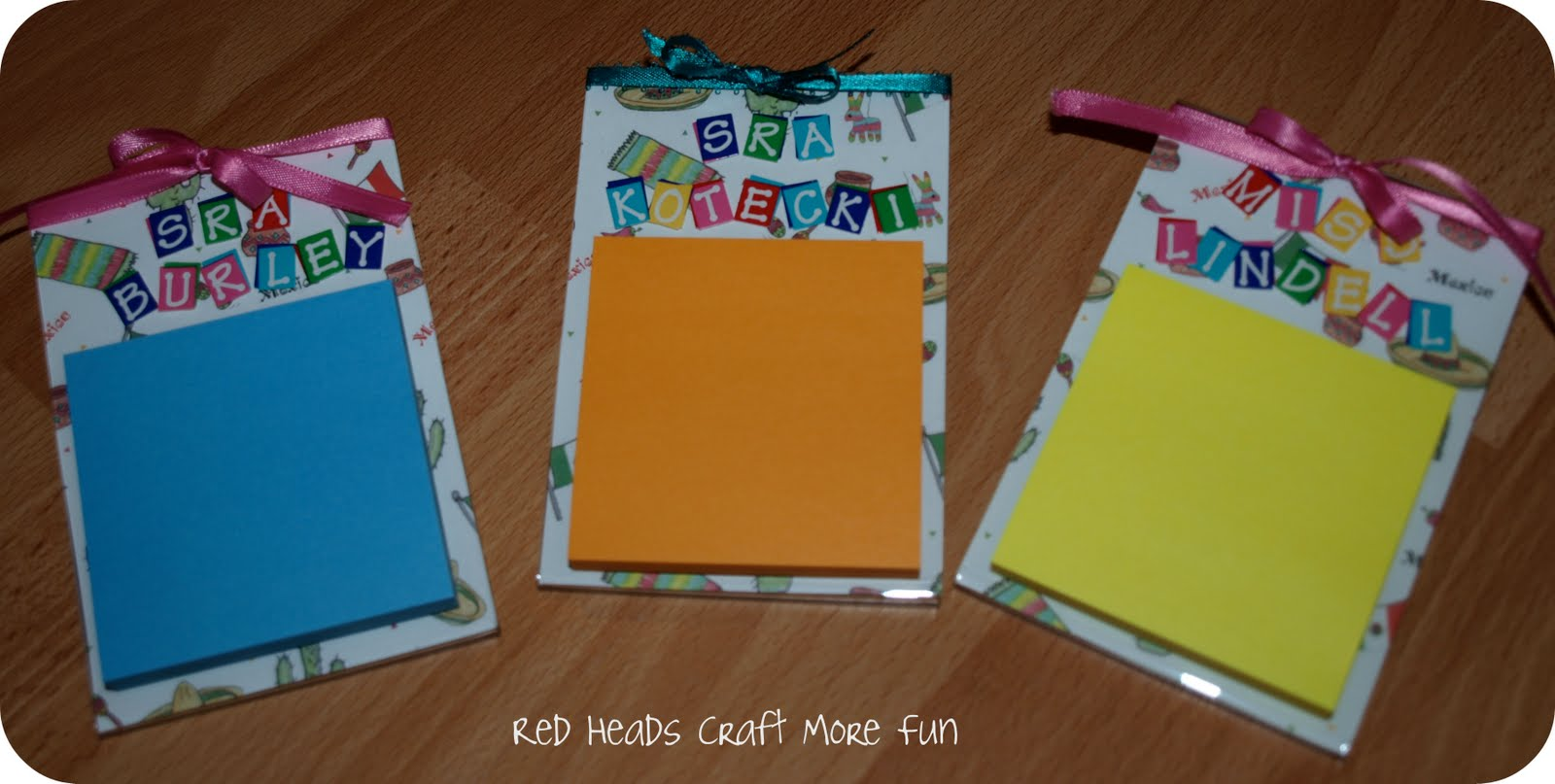 Red Heads Craft More Fun: Post It Note Holder