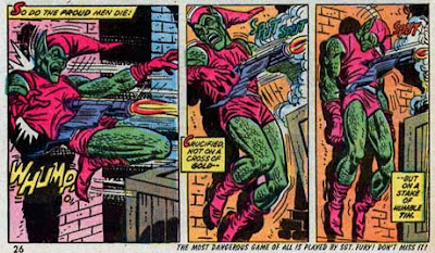 Amazing Spider-Man #122, the Green Goblin dies, impaled by his own glider