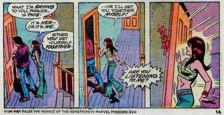 Amazing Spider-Man #148, Mary Jane Watson and Peter Parker argue