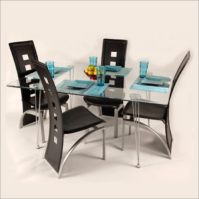 Surprising Modern Furniture Glass Dining Sets Bralicious Painted Fabric Chair Ideas Braliciousco