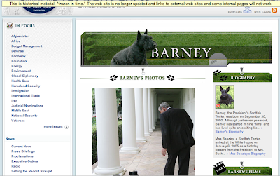 Barney web page