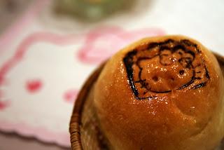 Hello Kitty Restaurant, hello kitty dinner roll, taiwan, taipei