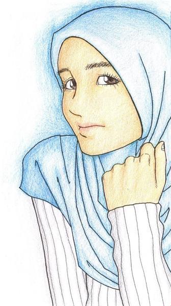 Karikatur Wanita Berjilbab N Mora Arfynda P