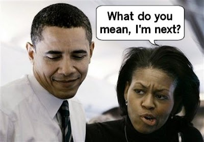 Barack tells Michele that she is next under the bus
