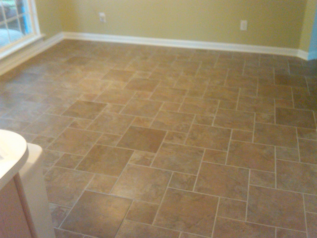 YORKE RENO...What's new!: Tile Floor laid out in Hopscotch
