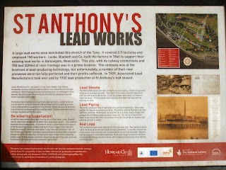 St Anthonys Lead Works information board
