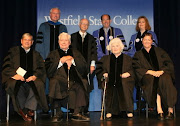 Westfield State College presented honorary Doctor of Public Service degrees on 9/26/2009