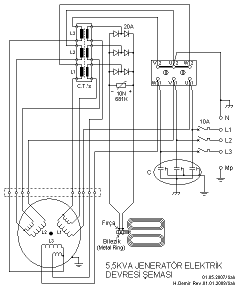 Amazing 5 5Kva Generator Electrical Circuit Diagram Electronik Computer Wiring Cloud Hisonuggs Outletorg