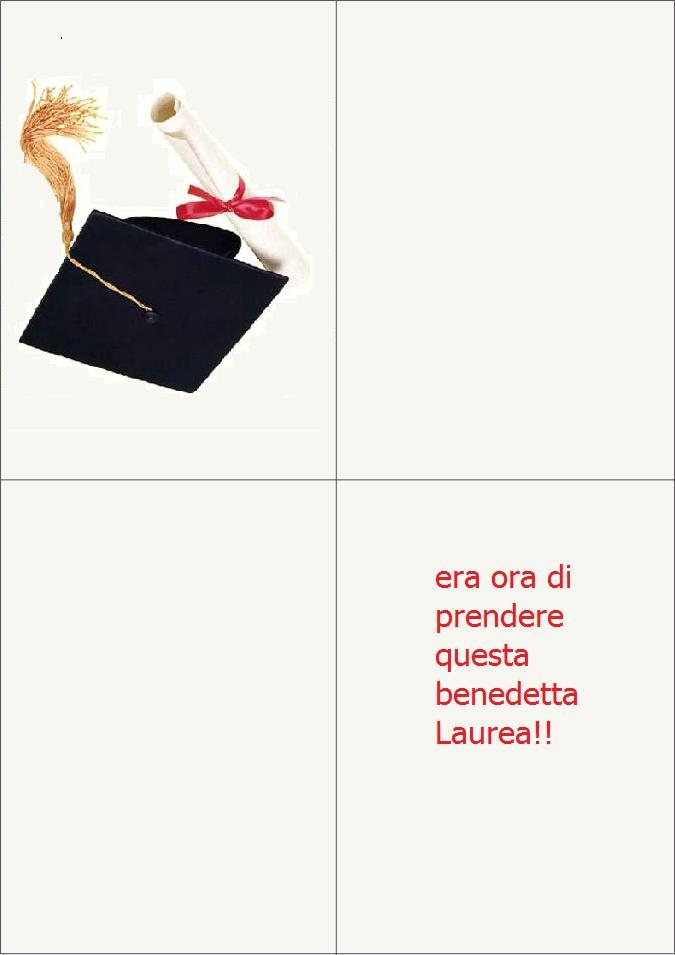 Biglietto Laurea Umoristica Glitter 12pz