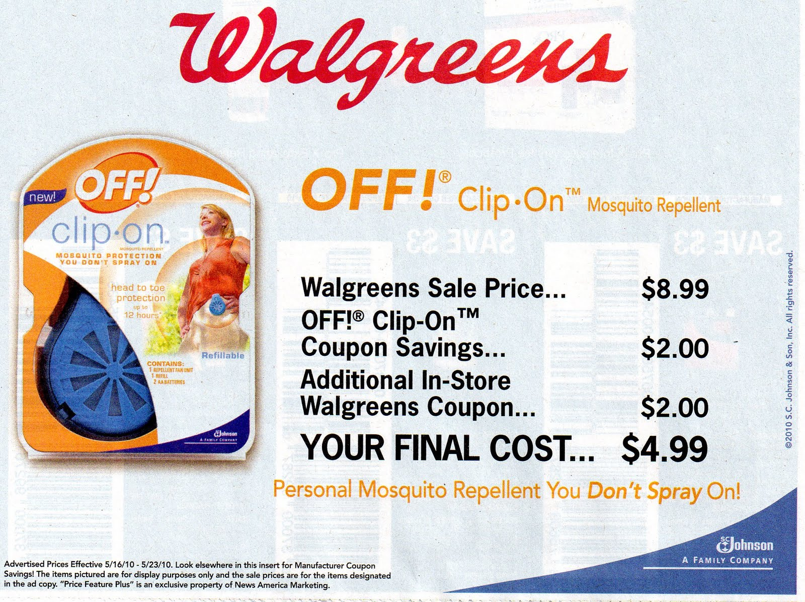 d120e6515c5c58 Have you ever been told you can't use a manufacturer coupon and a coupon  from Walgreens' Monthly Coupon Book on the same item? The ad says you can.