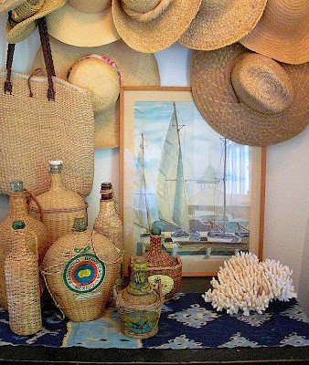 Decorating With Straw Hats The Wicker House