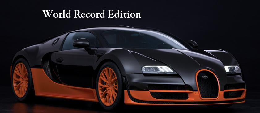 the bugatti veyron 16 4 super sport world record edtion broke the land speed record and is the. Black Bedroom Furniture Sets. Home Design Ideas