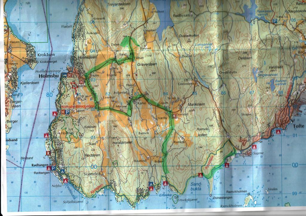 kart over holmsbu KrampeGammel'n: Ultratur, Kyststien, Leila, sykkel og vafler kart over holmsbu