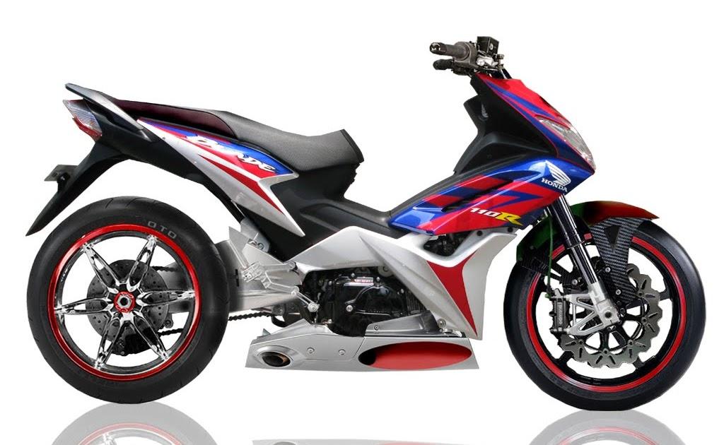 Foto Modifikasi Motor Honda Blade Juara