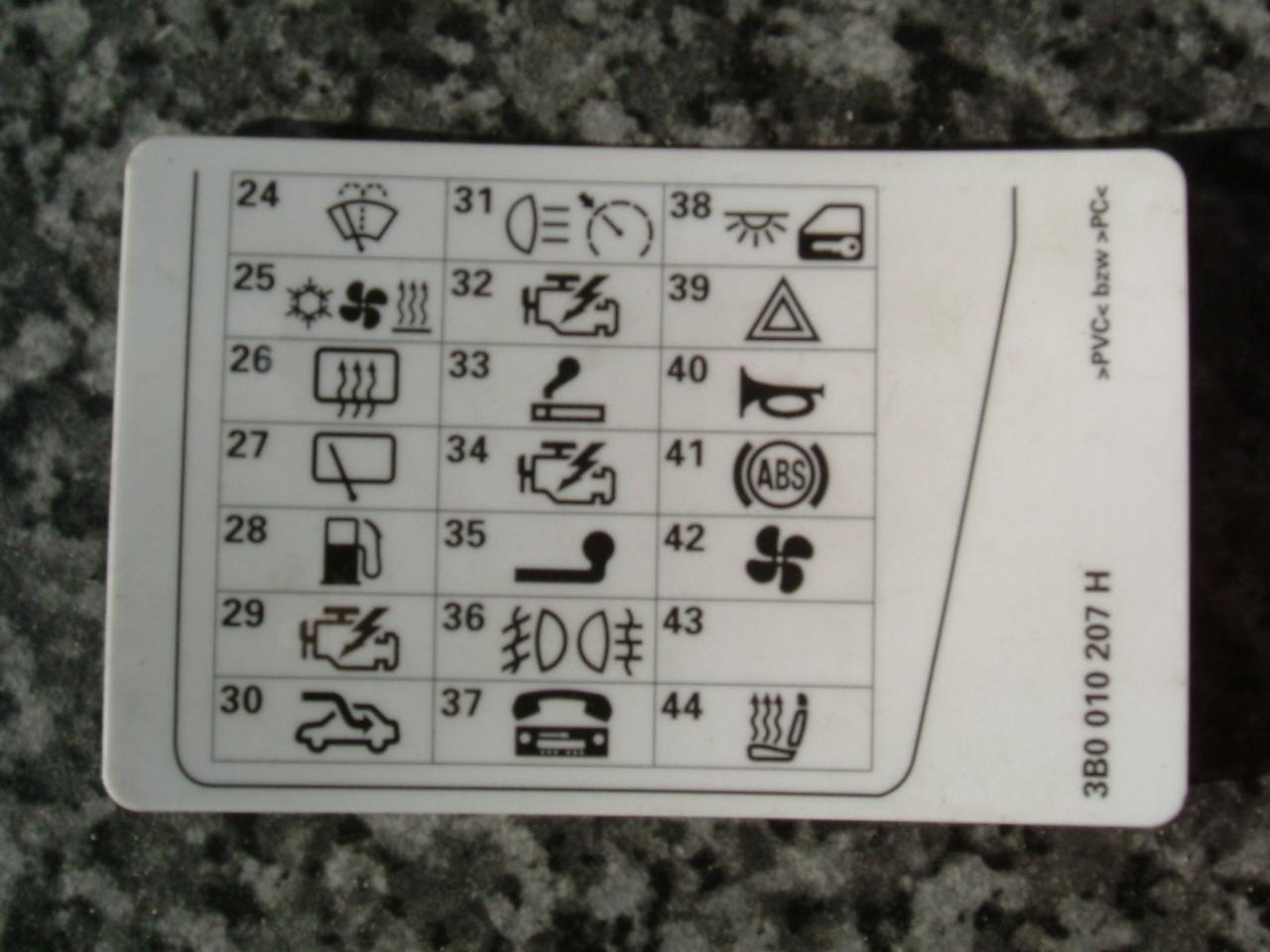 2007 Volkswagen Gti Fuse Box Diagram Osazen 237 Pojistek Fusecard Interi 233 R Elektro Vw Passat
