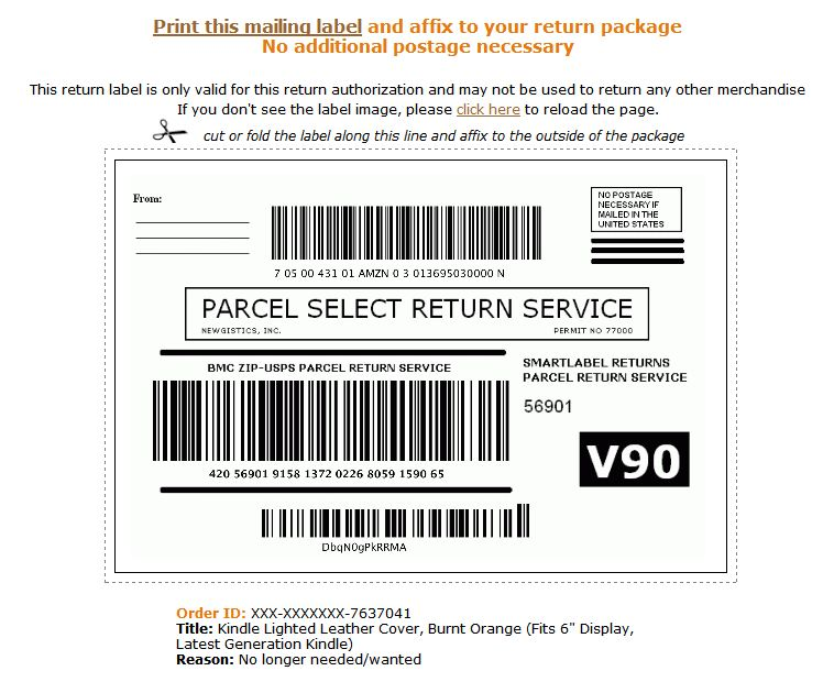 Jeff's Blog: Amazing Amazon Service / Paying You To Stop