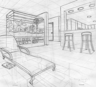 Two point perspective coloring pages - Two point perspective living room ...