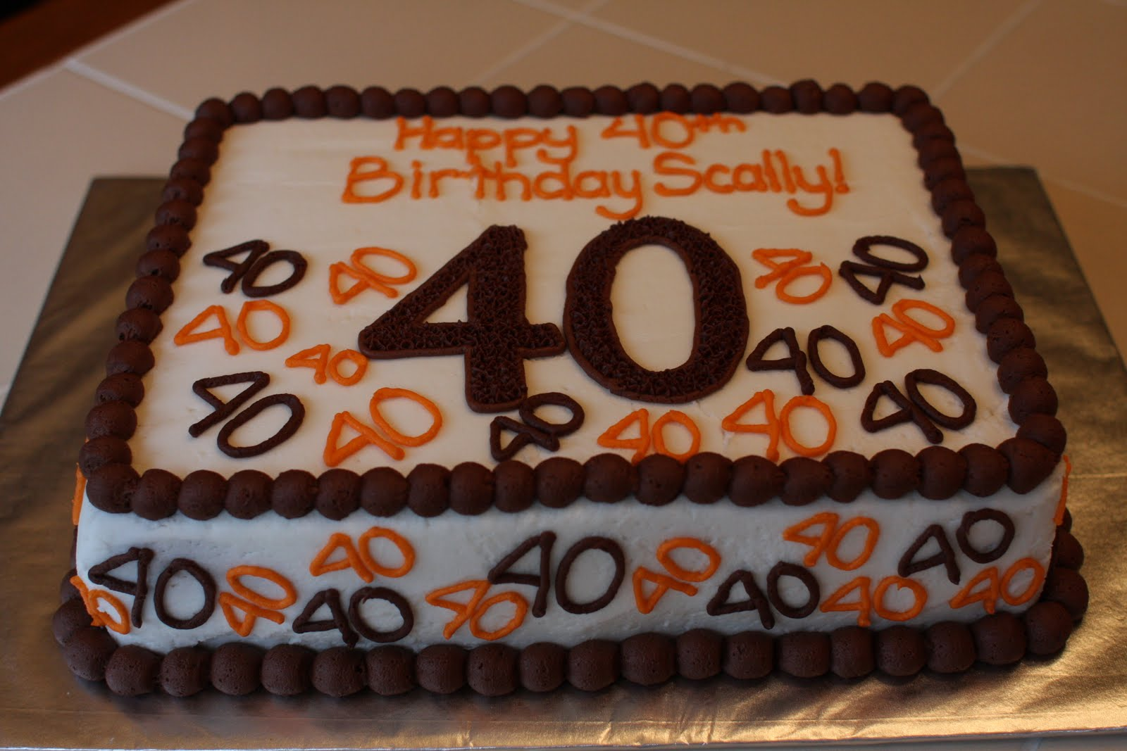 The Buttercream Bakery 40th Birthday Cake