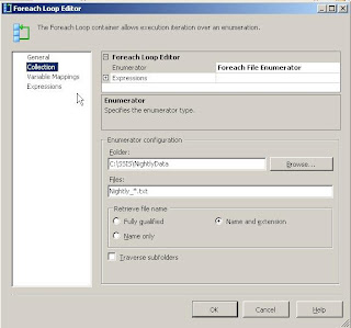 Using Foreach Loop Container in SSIS