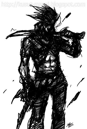 Kusut Masai Left Handed Swordsman