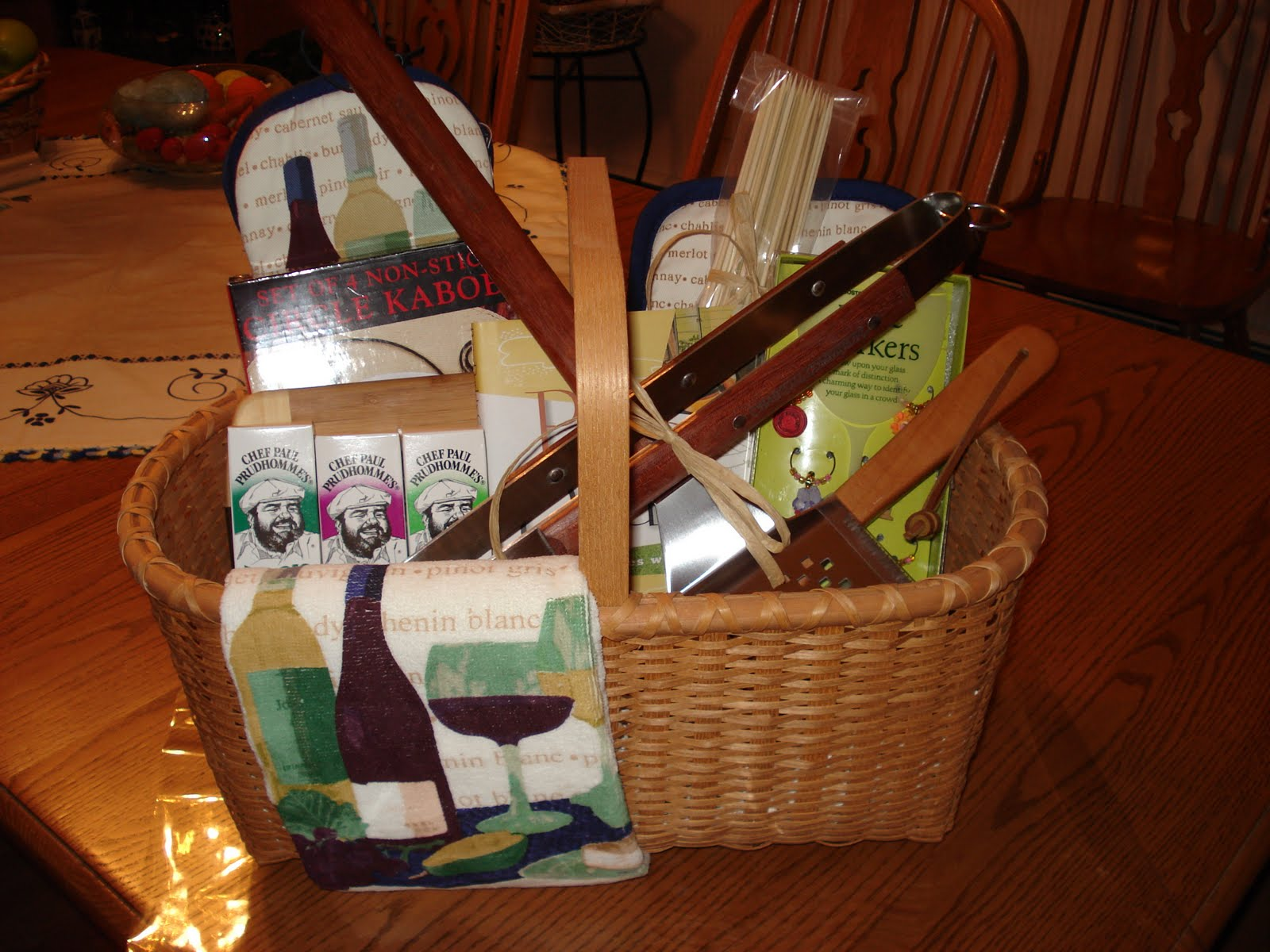 K S Gift Baskets Amp Things Bbq And A Glass Of Wine