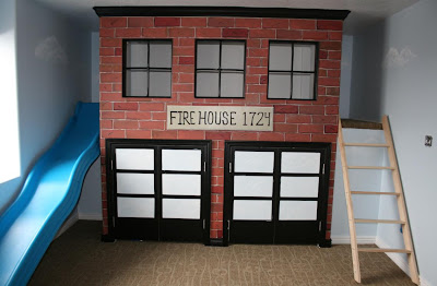 Angela, Amy And Eva Painted This Playroom Area To Look Like An Old Fire  House. It Turned Out Cute! Part 37